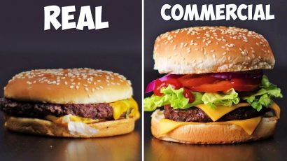 Alimentele in realitate vs alimentele in reclame