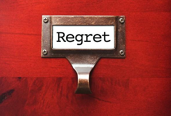 Regretul, un sentiment acut in iubire